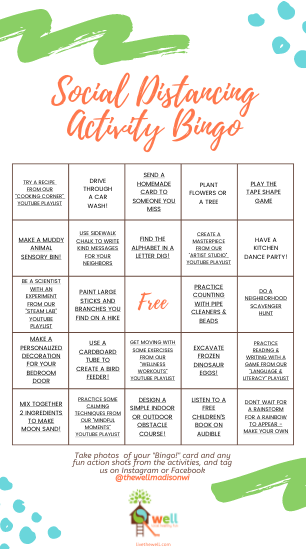 At Home Activity Bingo