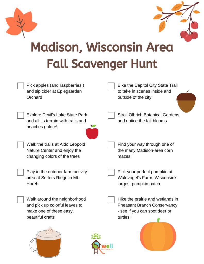 Madison Area Fall Bucket List