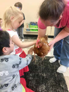 4K Students with Chicken