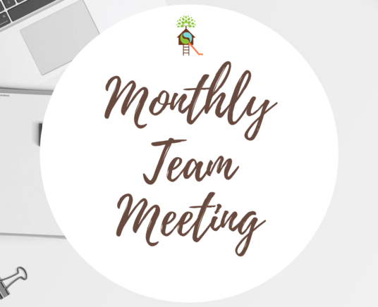 Monthly Team Meeting (School closed at 5 PM)