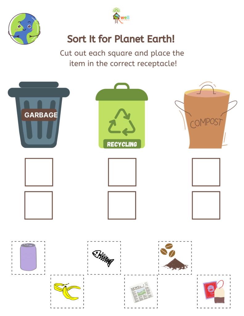 Sort it for Planet Earth Worksheet